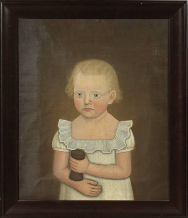 JOHN BREWSTER, JR. (1766-1854). PORTRAIT OF HARRIET GORDON DIXON, DAMARISCOTTA, MAINE.
