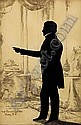 AUGUSTE EDOUART (1788-1861). SILHOUETTE OF MAN IN DRAWING ROOM, BOSTON, 1842., Augustin-Amant-Constant-Fidèle Edouart, Click for value