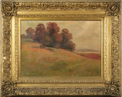 NATHANIEL L. BERRY (AMERICAN 1859-1929). AUTUMN HILLSIDE.