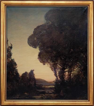 HENRY JOSEPH BREUER (AMERICAN 1860-1932). PACIFIC TWILIGHT.