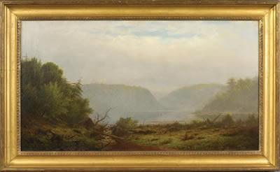 CHARLES WILSON KNAPP (AMERICAN 1823-1900). THE DELAWARE WATERGAP.