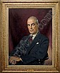 481 JOHN LAVALLE (AMERICAN 1896-1971). PORTRAIT OF THOMAS D. CABOT. Oil on canvas, 32 x 25 inches. Signed 'John Lavalle' and dated 1958, l.r., John Lavalle, Click for value
