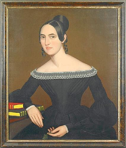 ammi phillips (1788-1865). half length portrait of