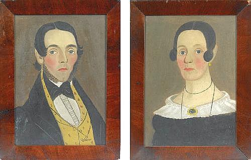 william w. kennedy (1817-1871). pair of portraits