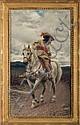 TITO CONTI (ITALIAN 1842-1924). CAVALIER ON HORSEBACK., Tito Conti, Click for value