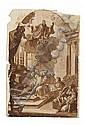 ITALIAN OLD MASTER DRAWING FOR AN ALTARPIECE, POSSIBLY PIETRO ANTONIO DE PIETRI (ROMAN 1663-1716)., Pietro Antonio