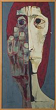OSWALDO GUAYASAMIN (ECUADORIAN 1919-1999). CABEZA Y MANO, 1975.