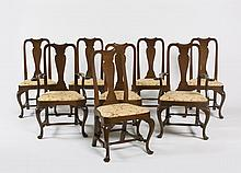 SET OF EIGHT CUSTOM QUEEN ANNE STYLE MAHOGANY DINING CHAIRS, INCLUDING TWO ARMCHAIRS.