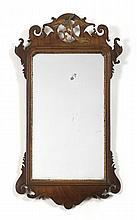 CHIPPENDALE WALNUT AND PARCEL-GILT MIRROR, AMERICAN OR ENGLISH, EIGHTEENTH CENTURY.