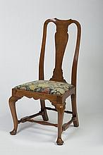 MASSACHUSETTS QUEEN ANNE WALNUT SIDE CHAIR, CIRCA 1770.