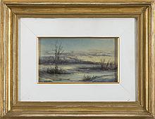 ELEANOR REVERE WEEDEN (AMERICAN 1892-1984). WINTER LANDSCAPE, LATE AFTERNOON.
