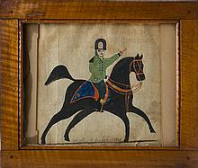 PENNSYLVANIA DRAWING OF A MILITARY OFFICER ON HORSEBACK, SIGNED
