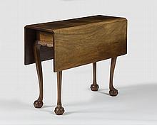 MASSACHUSETTS CHIPPENDALE MAHOGANY DIMINUITVE DROP-LEAF BREAKFAST TABLE, SALEM-MARBLEHEAD AREA, CIRCA 1780.