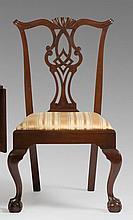 MASSACHUSETTS CHIPPENDALE MAHOGANY SIDE CHAIR, CIRCA 1770-1780.