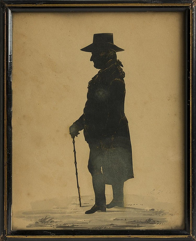 FULL-LENGTH SILHOUETTE OF DR. TREADWELL OF SALEM, MASSACHUSETTS.
