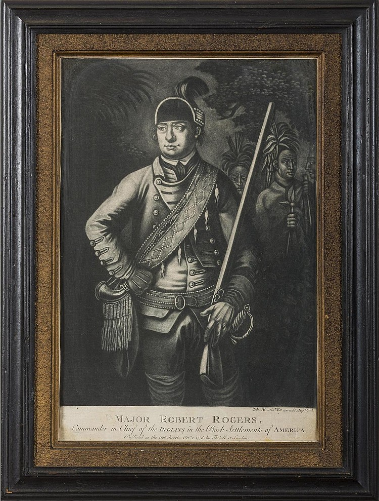 MAJOR ROBERT ROGERS, COMMANDER IN CHIEF OF THE INDIANS IN THE BACK SETTLEMENTS OF AMERICA, 1776.