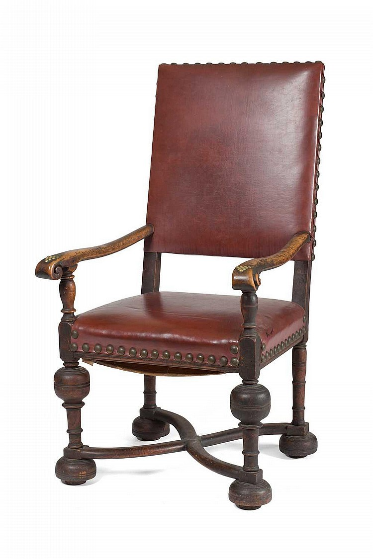 ENGLISH JACOBEAN WALNUT GREAT CHAIR.