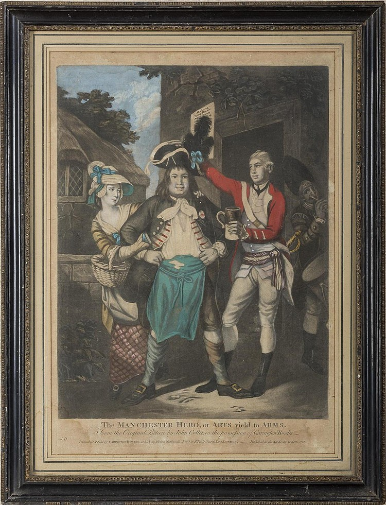 THE MANCHESTER HERO, OR ARTS YIELD TO ARMS, 1778.