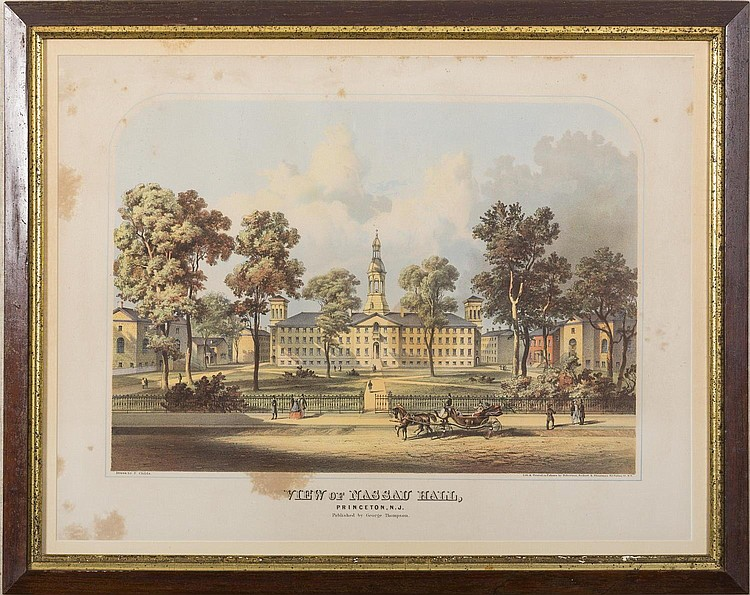 VIEW OF NASSAU HALL, PRINCETON, N.J.