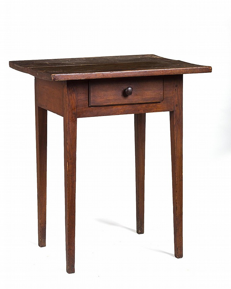 FEDERAL SIDE TABLE WITH DRAWER.
