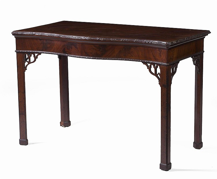 IRISH GEORGE III CARVED MAHOGANY PIER TABLE.