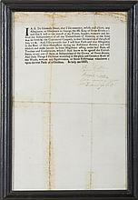 PRINTED AND SIGNED OATH RENOUNCING ALLEGIANCE TO KING GEORGE III AND PLEDGING TO SUPPORT AMERICAN INDEPENDENCE, CIRCA 1776.