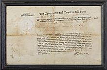 MESHECH WEARE, CHAIRMAN OF THE COMMITTEE OF SAFETY OF NEW HAMPSHIRE. MILITARY APPOINTMENT FOR ELIJAH HILLS, EXETER, 20 DECEMBER, 1776.
