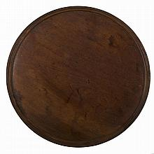 MASSACHUSETTS FEDERAL TURNED MAHOGANY DISH-TOP CIRCULAR TEA TRAY.