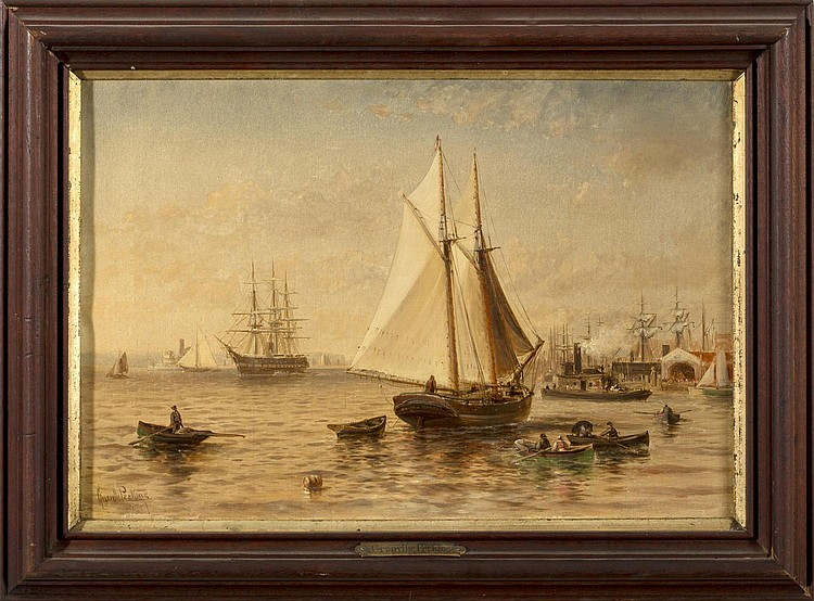 GRANVILLE PERKINS (AMERICAN 1830-1895). NEW YORK HARBOR.