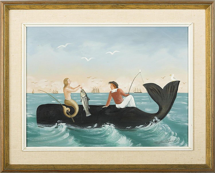 MARTHA CAHOON (AMERICAN 1905-1999). FISHING WHALESIDE.