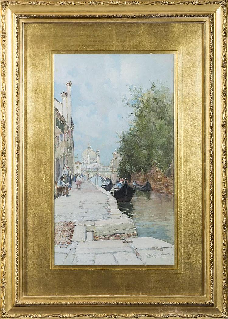 FRANCIS HOPKINSON SMITH (AMERICAN 1838-1915). VENETIAN CANAL.