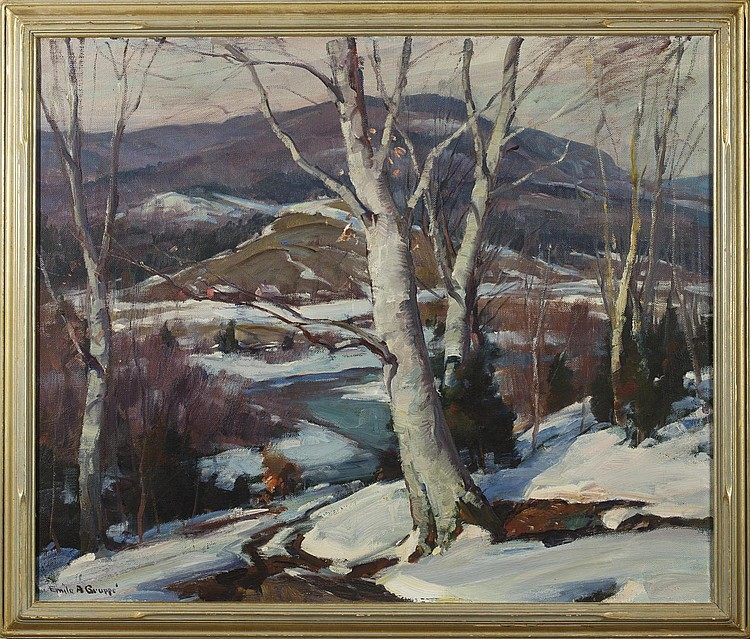 EMILE A. GRUPPE (AMERICAN 1896-1978). MELTING SNOW, VERMONT.