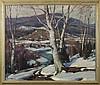 EMILE A. GRUPPE (AMERICAN 1896-1978). MELTING SNOW, VERMONT., Emile Albert Gruppe, $5,000