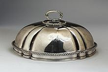 VICTORIAN SILVER DOUBLE-CRESTED CLOCHE, GARRARDS, LONDON, 1837-45.