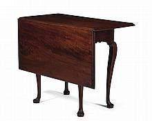 MASSACHUSETTS QUEEN ANNE MAHOGANY SINGLE-DROP-LEAF TABLE, SALEM, NATHANIEL GOULD SCHOOL.
