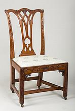 CHIPPENDALE CARVED-MAHOGANY SIDE CHAIR, PENNSYLVANIA OR MID-ATLANTIC STATES.