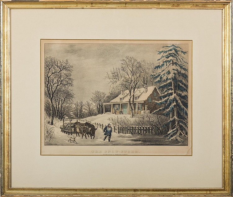 CURRIER & IVES. THE SNOW-STORM.