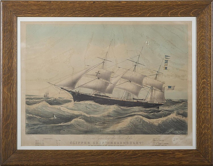CURRIER & IVES. CLIPPER SHIP