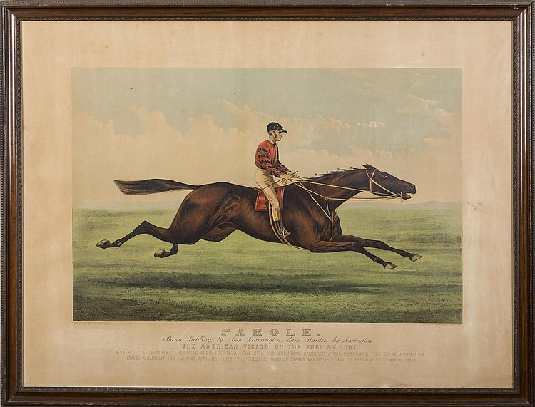 CURRIER & IVES. PAROLE. ...THE AMERICAN VICTOR OF THE ENGLISH TURF.