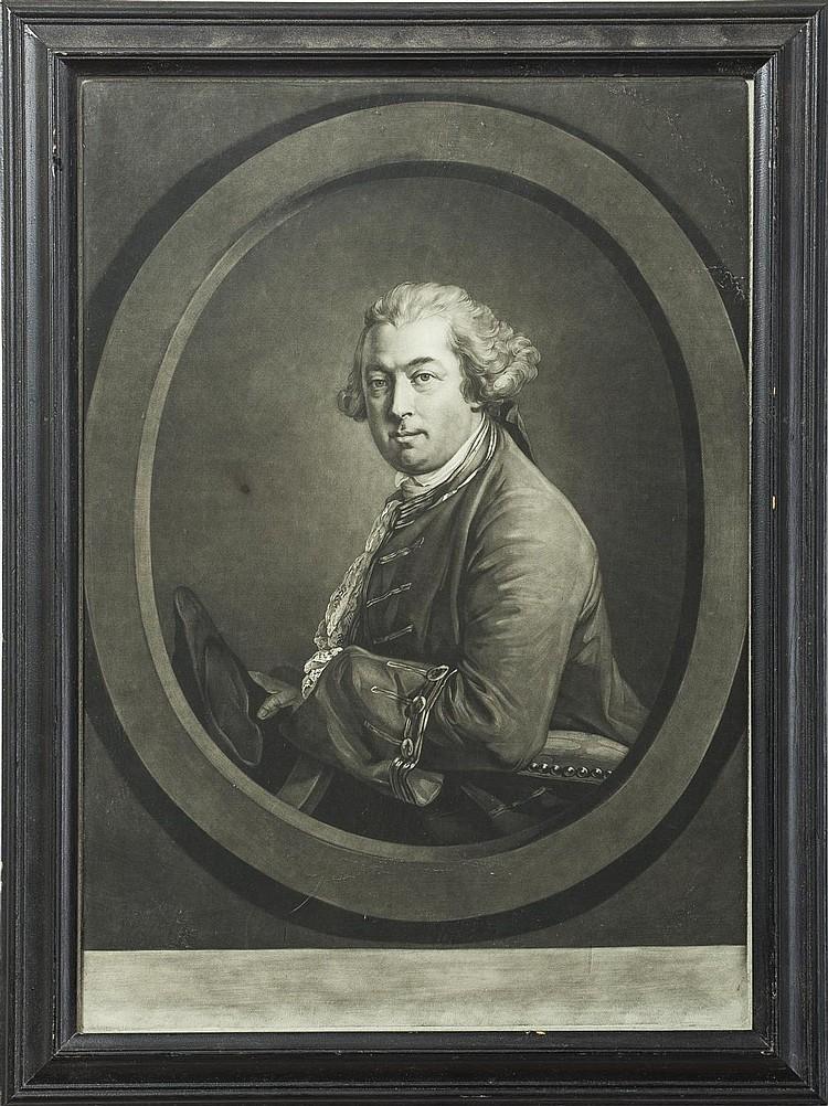 BRITISH ENGRAVED PORTRAIT OF A GENTLEMAN.