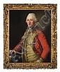 PORTRAIT OF AN EIGHTEENTH CENTURY GENTLEMAN IN GOLD TRIMMED RED COAT. ATTRIBUTED TO ANTON VAN MARON (AUSTRIAN 1733-1808)., Anton von Maron, Click for value