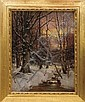 WILLIAM PRESTON PHELPS (AMERICAN 1848-1923). WINTER MORNING IN THE FOREST., William Preston Phelps, Click for value