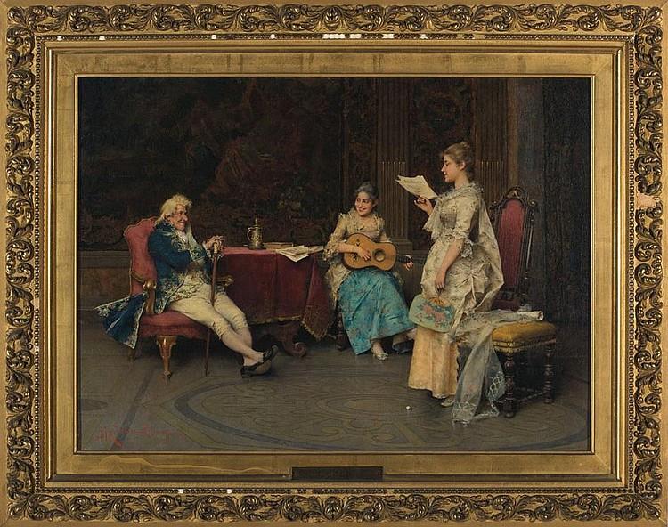 ADRIANO CECCHI (ITALIAN 1850-1936). A MUSICALE.