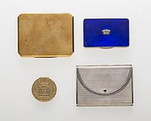 GEORGE V SILVER AND ENAMEL COMPACT, H. C. FREEMAN, LTD, LONDON, 1930-31.
