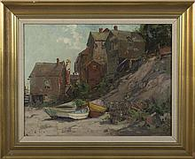 EDWARD A. PAGE (AMERICAN 1850-1928). MARBLEHEAD COTTAGES.