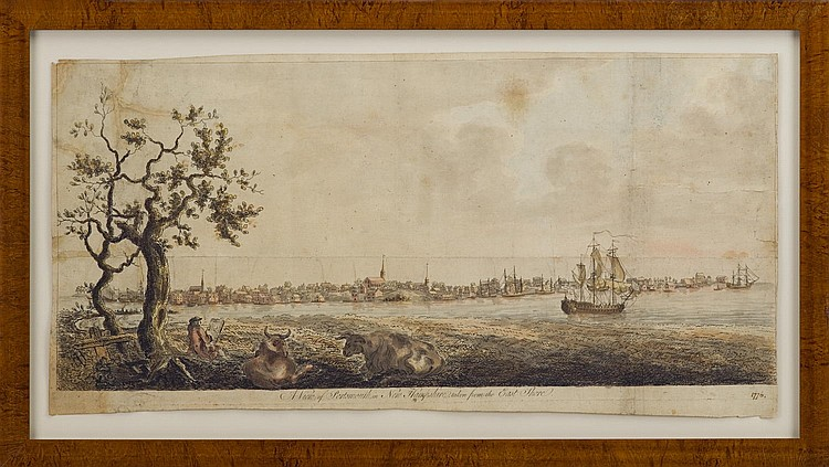 A VIEW OF PORTSMOUTH IN NEW HAMPSHIRE, TAKEN FROM THE EAST SHORE, FROM J.F.W. DES BARRES