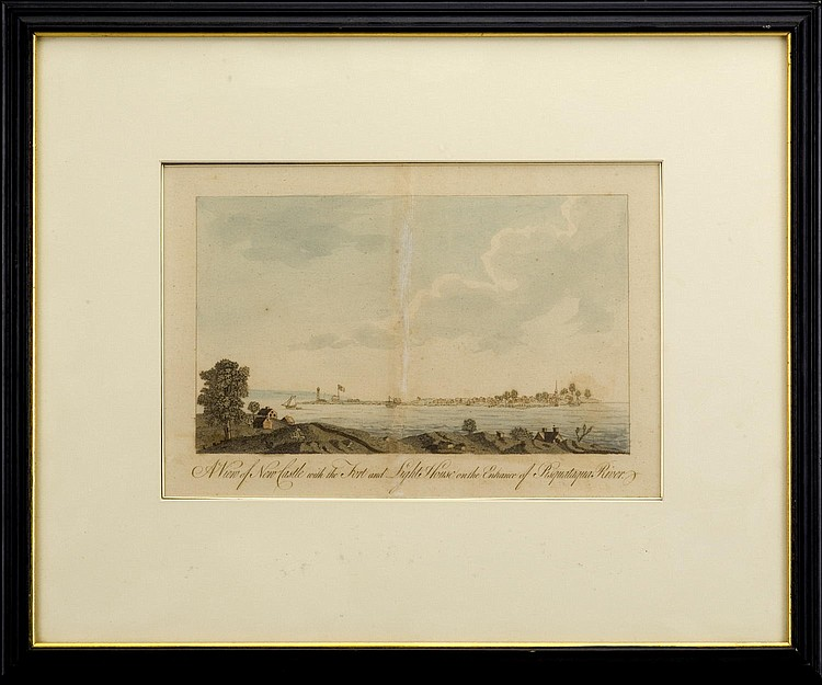 A VIEW OF NEW CASTLE WITH THE FORT AND LIGHT HOUSE ON THE ENTRANCE OF PISCATAQUA RIVER, FROM J.F.W. DES BARRES