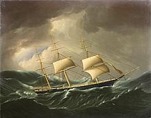 JAMES E BUTTERSWORTH (AMERICAN 1817-1894). THE SHIP