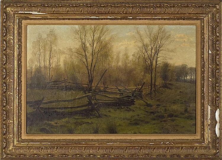 WILLIAM BLISS BAKER (AMERICAN 1859-1886). AUTUMN