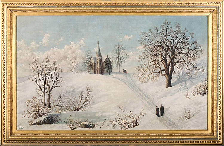 CARL A. SOMMER (AMERICAN 1829-1921). WINTER